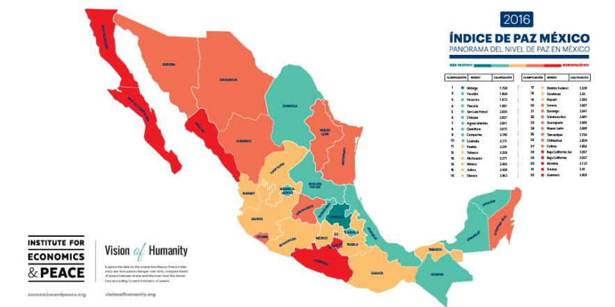 mapa indice de paz
